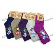 Носки подростковые Вальс махровые цветочки 7211 оптом