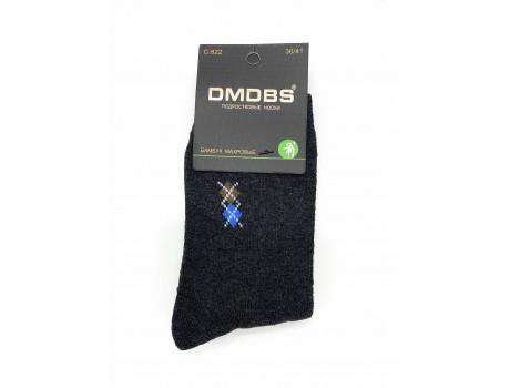 Носки подростковые на мальчиков махровые бамбук, однотонные с узором Dmdbs С822-1