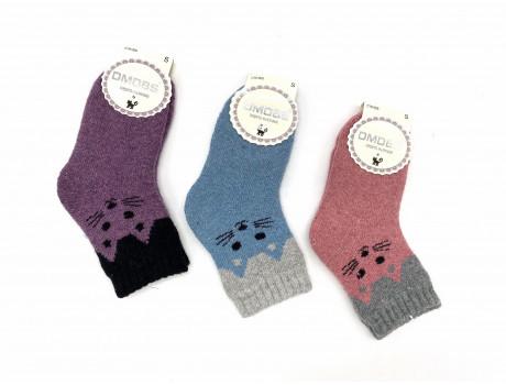 Носки детские Dmdbs шерсть+ангора махровые котики С16-005