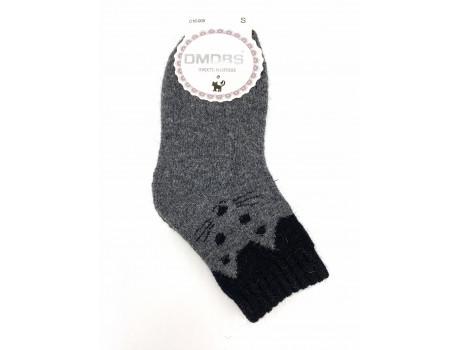 Носки детские Dmdbs шерсть+ангора махровые котики С16-005-1