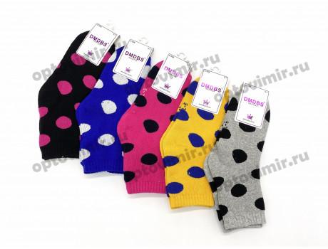 Носки детские махровые хлопковые яркие в горошек Dmdbs С508