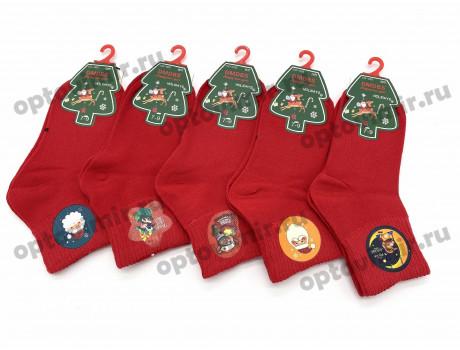 Носки детские Dmdbs новогодние красные CD-003