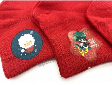 Носки детские Dmdbs новогодние красные CD-003 -1