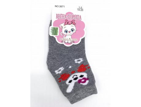 Носки детские хлопковые термо с рисунком Весна-хороша 3871-1