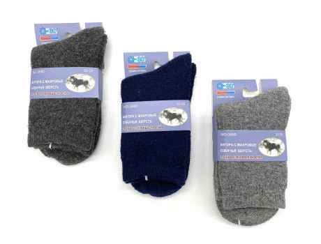 Носки подростковые для мальчиков из собачьей шерсти и бамбука медицинские Весна-Хороша 3880 оптом