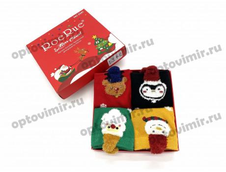 Носки детские RoeRue хлопок новогодние в коробке 3241