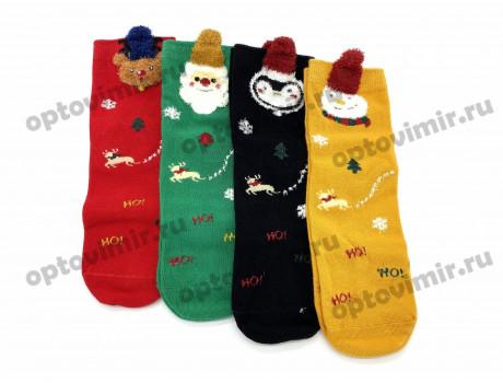 Носки детские RoeRue хлопок новогодние в коробке 3241-1