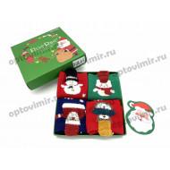 Носки детские RoeRue новый год в коробке 3242 оптом