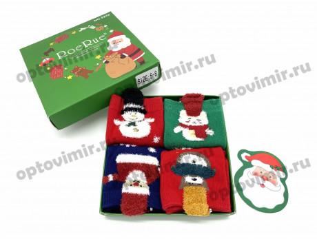 Носки детские RoeRue новый год в подарочной коробке 3242