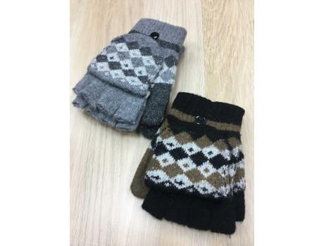 Варежки-перчатки (Митенки) женские Ирина пальцы обрезаны-3
