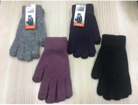 Перчатки женские Корона шерстяные сенсорные пальцы G7324