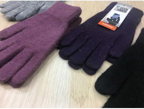Перчатки женские Корона шерстяные сенсорные пальцы G7324-4
