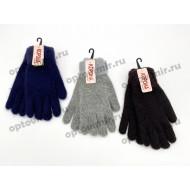Перчатки женские Корона цветные с меховой резинкой оптом