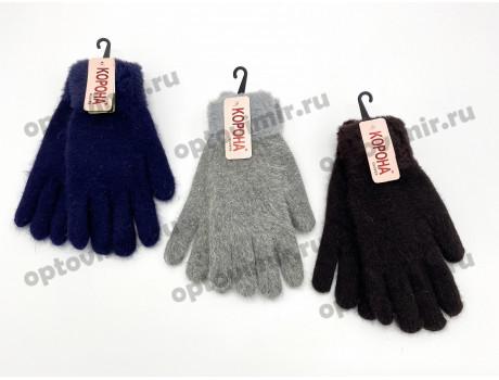 Перчатки женские Корона цветные с мехом на резинке