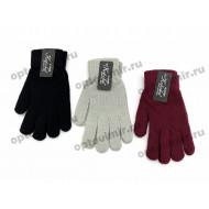 Перчатки женские Корона цветные с начесом оптом