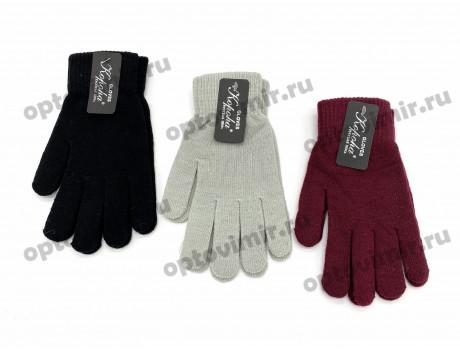 Перчатки женские Корона цветные тонкие с начесом