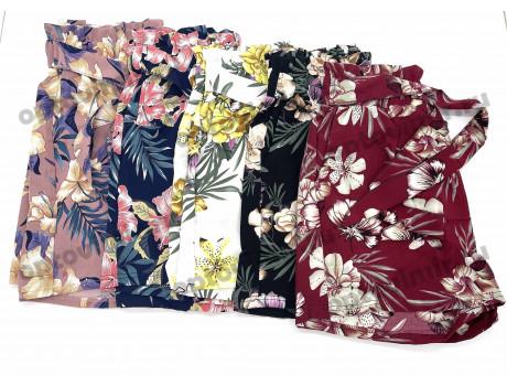 Шорты женские рисунок цветы Лепесток модель 5034-1