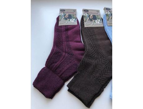Носки женские цветные хлопок 100% лиля ослабленная резинка ШАГ+  Ж13 -1