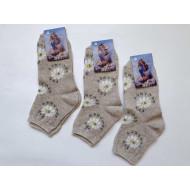 Носки женские Ромашка лен (рис. ромашки) С88 российские