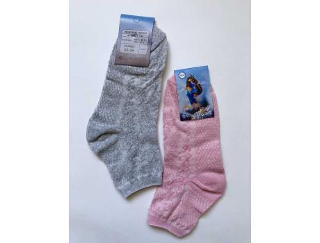Женские носки лен цветные выбытий узор бабочка Ромашка С88-3