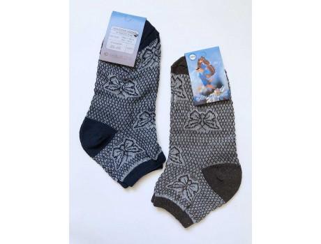 Женские носки лен цветные выбытий узор бабочка Ромашка С88-4