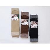 Носки женские капроновые плотные с широкой резинкой рис. цветочки Ланю 213