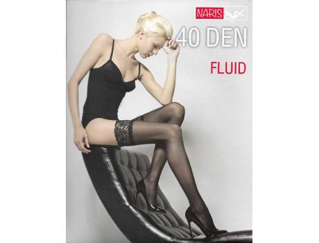 Чулки женские Нарис FLUID 40 den с красивой кружевной резинкой Y-01