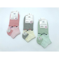 Носки женские Наташа короткие двухцветные 6773 оптом