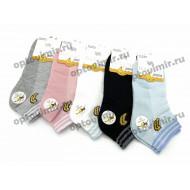 Носки женские хлопковые Наташа короткие сеточка 6796-4 оптом