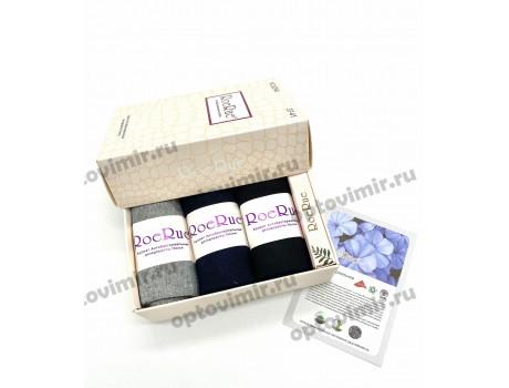 Носки женские RoeRue ароматизированные в подарочной коробке с мылом 2240