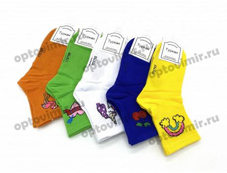 Носки женские Туркан яркие радуга вишенки единорожка 6793-2