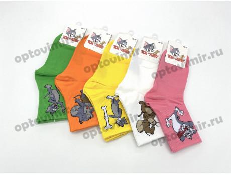 Носки унисекс Turkan Том и Джерри средней длины яркие 6780-2