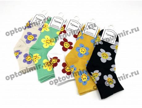 Носки женские Turkan яркие веселые ромашки 6804