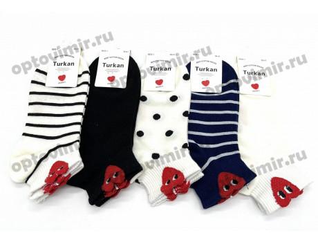 Носки женские Turkan полосочки горошки 6605