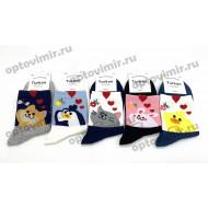 Носки женские Turkan Socks зверушки 6640 оптом