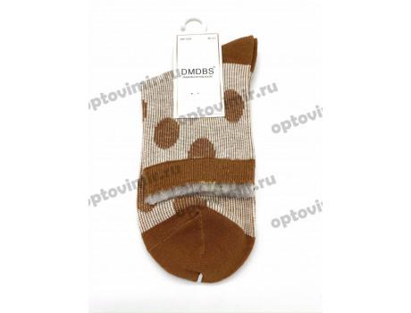 Носки женские Dmdbs хлопок двухцветные горошки BW-039 -1