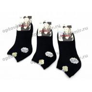Носки женские Dmdbs короткие черные В5010 оптом