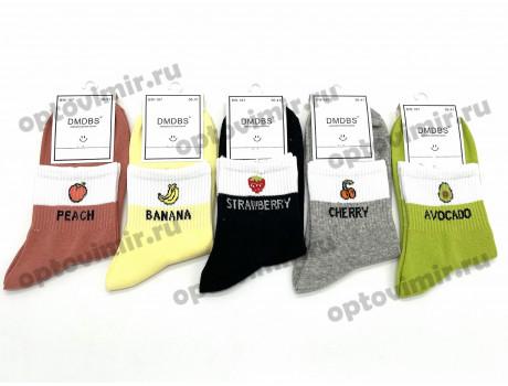 Носки женские Dmdbs цветные фрукты с белой резинкой BW-187