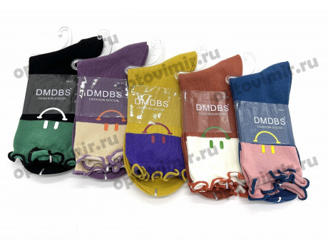 Носки женские Dmdbs смайлы резиночка рюша BW-067