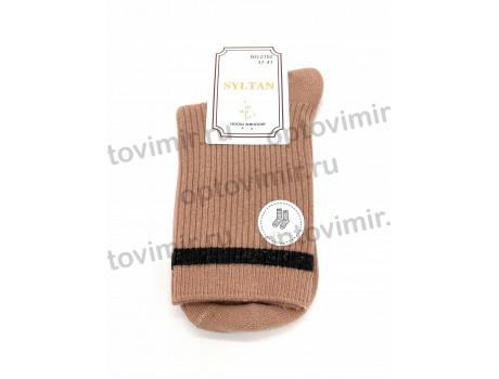 Носки женские Syltan плотный хлопок длинные люрекс 2102-1