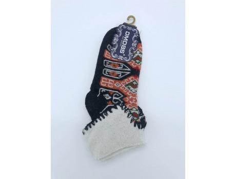 Носки женские термо кашемир с отворотом красивые узоры Dmdbs В18-73-1