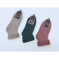 Носки женские Dmdbs махровые с отворотом В901 оптом