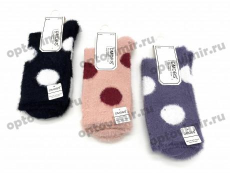 Носки женские Dmdbs из шерсти норки пушистые в горошек В926