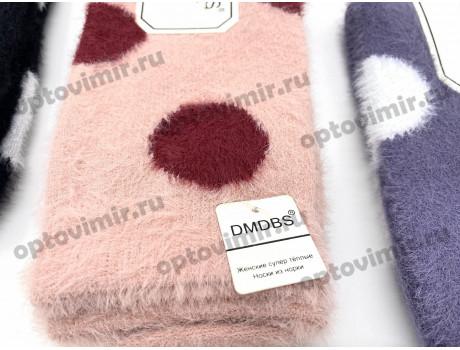Носки женские Dmdbs из шерсти норки пушистые в горошек В926-1