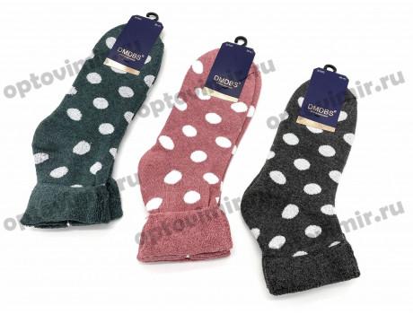 Носки женские DMDBS махровые в горошек с отворотом В902