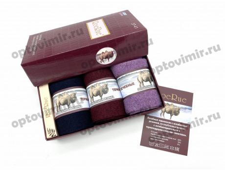 Носки женские RoeRue верблюжья шерсть в коробке с мылом 2932