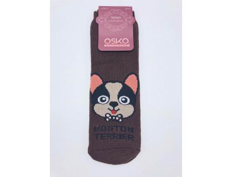Носки женские махровые мордочки песиков ОСКО А18-11 -1