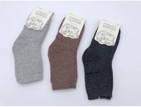 Носки женские однотонные махровые из ангоры ОСКО А19-17