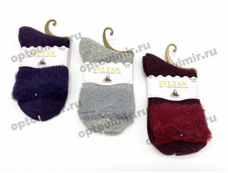 Носки женские Syltan тонкая ангора соболь меховой отворот 1201