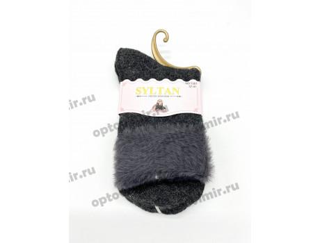Носки женские Syltan тонкая ангора соболь меховой отворот 1201-1
